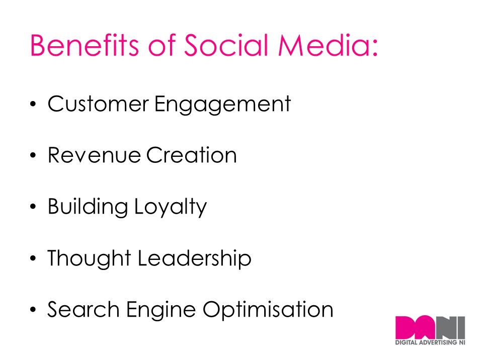 Benefits of Social Media: