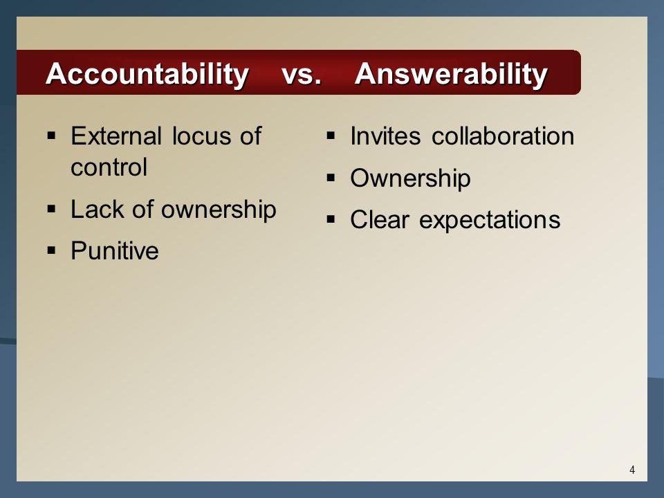 Accountability vs. Answerability