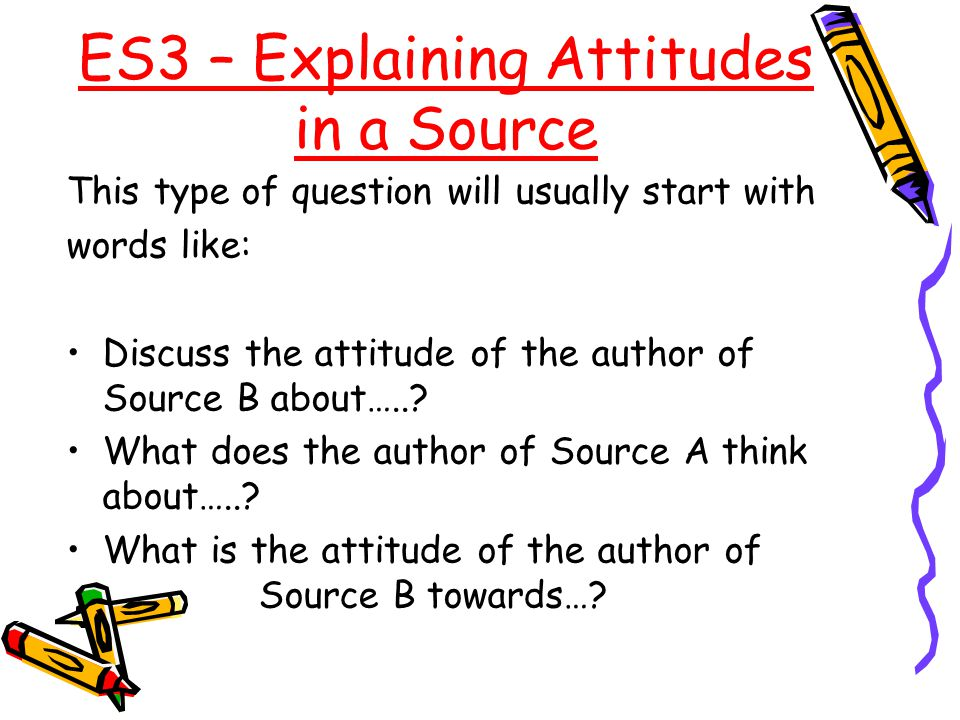 ES3 – Explaining Attitudes in a Source