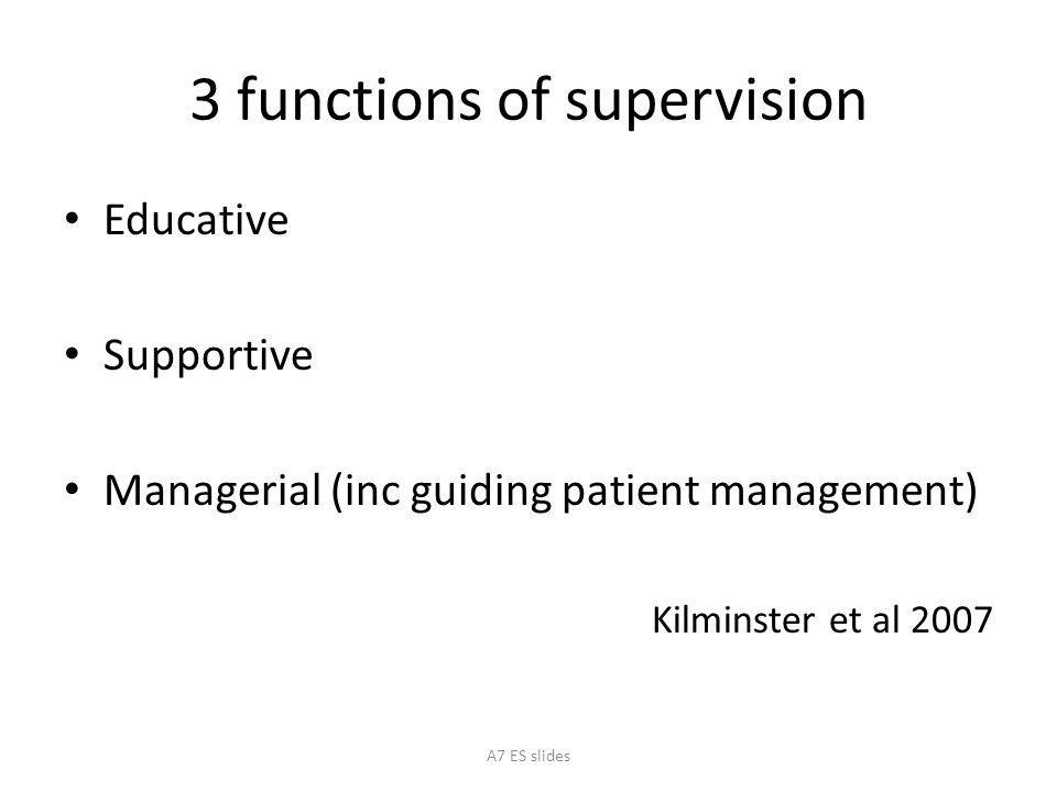 3 functions of supervision