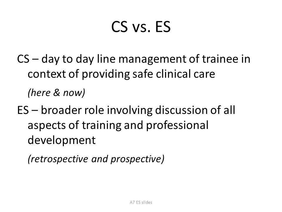 CS vs. ES