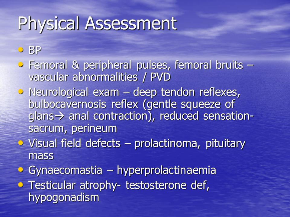 Physical Assessment BP