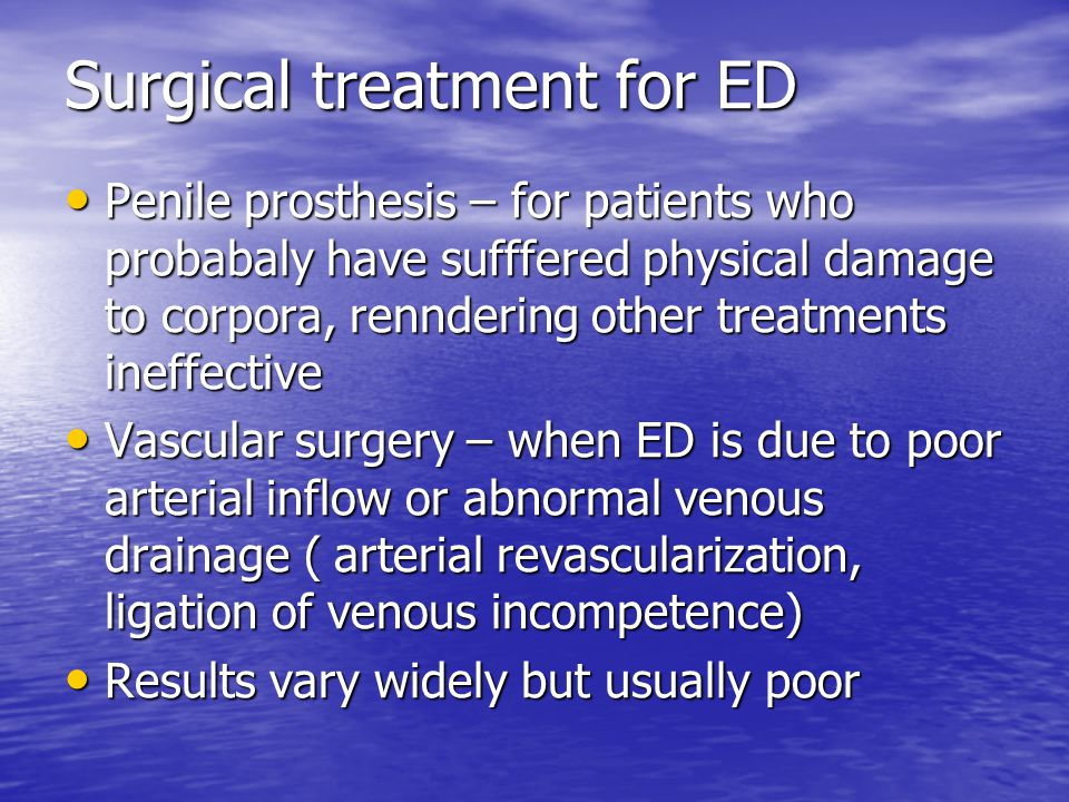 Surgical treatment for ED