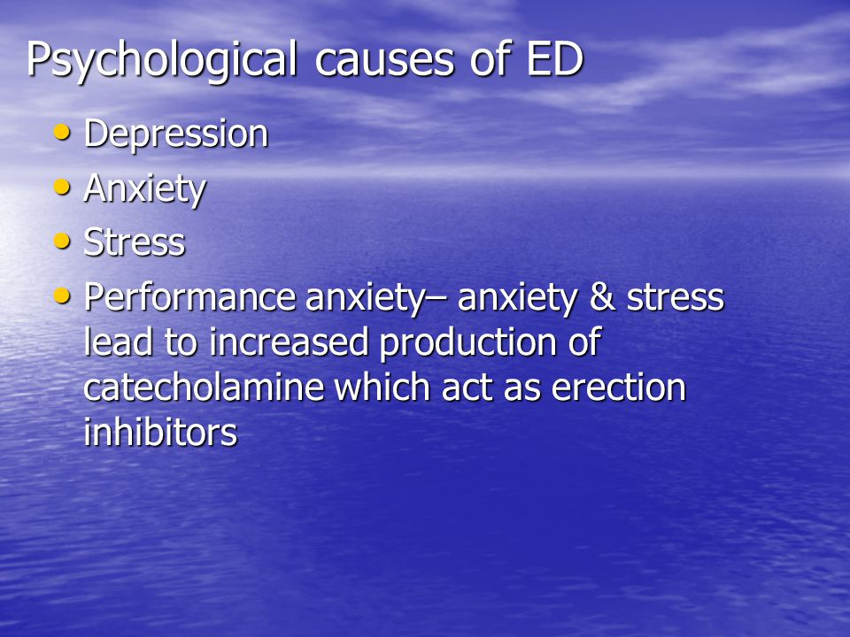 Psychological causes of ED