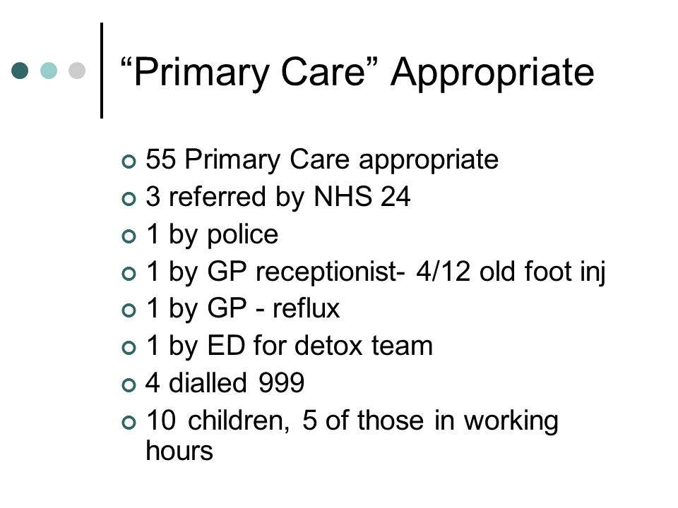Primary Care Appropriate