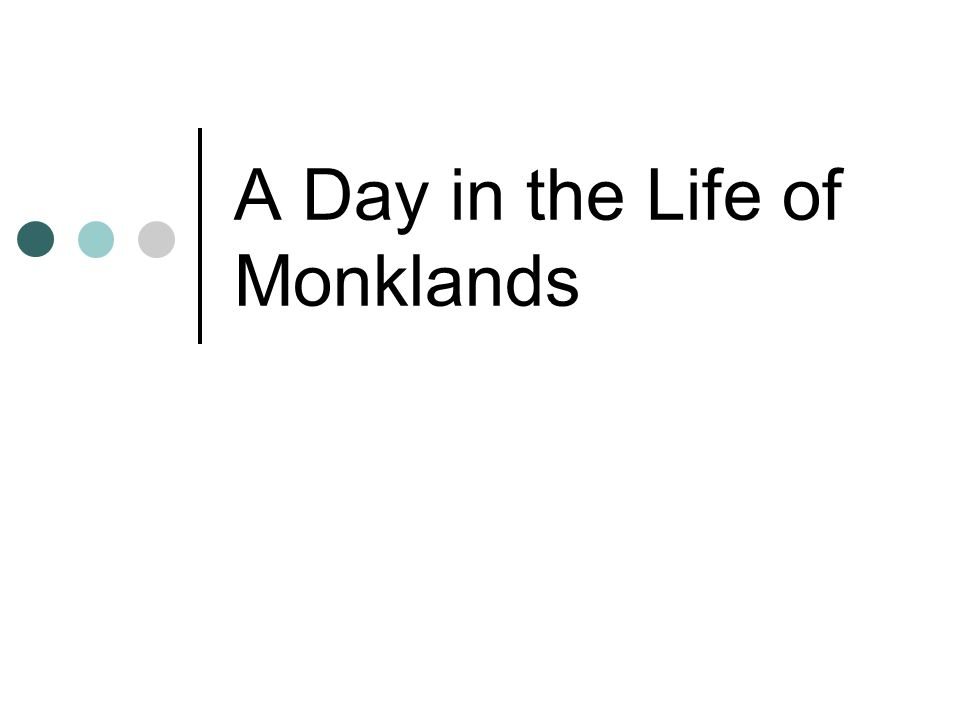 A Day in the Life of Monklands