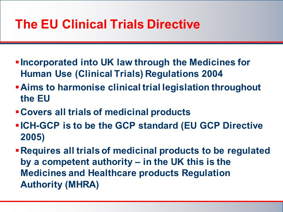 The EU Clinical Trials Directive