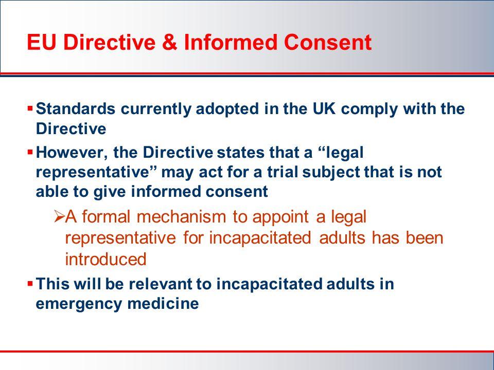 EU Directive & Informed Consent