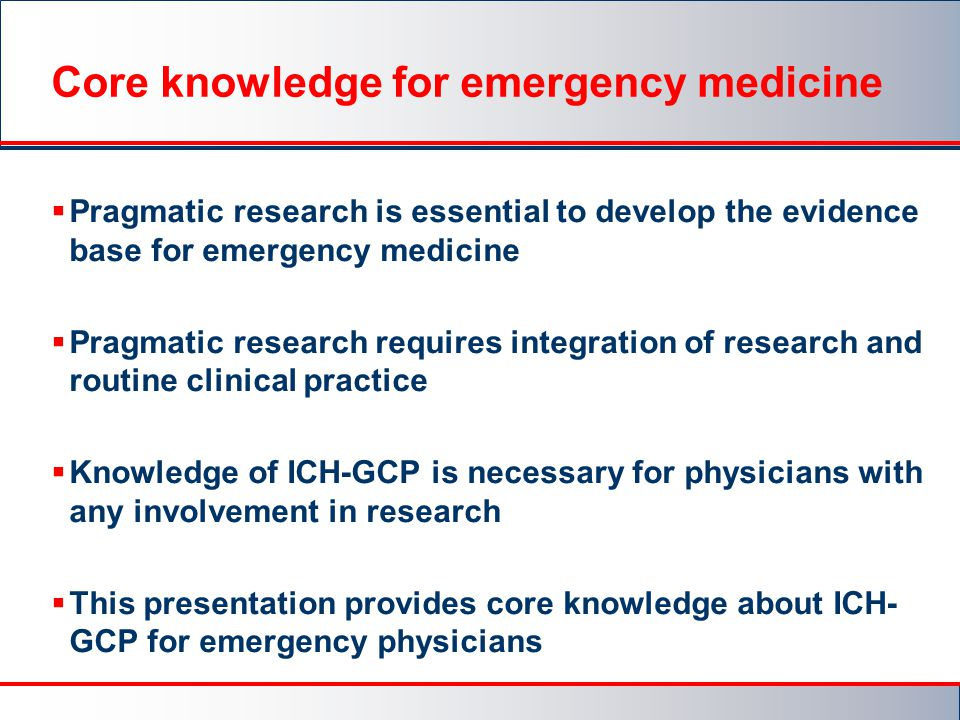 Core knowledge for emergency medicine