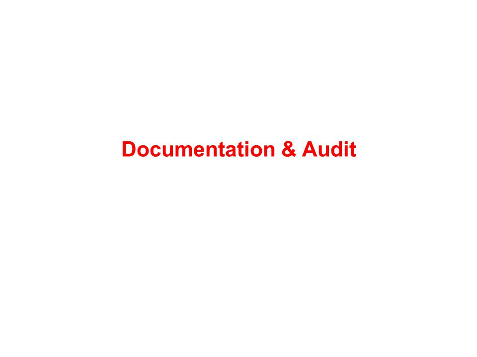 Documentation & Audit
