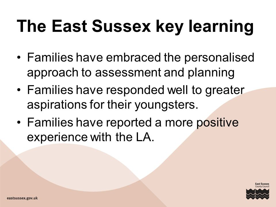 The East Sussex key learning