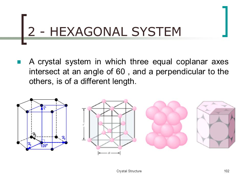 2 - HEXAGONAL SYSTEM