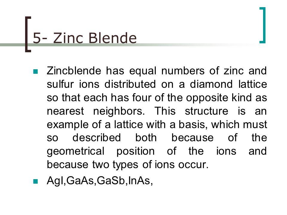 5- Zinc Blende