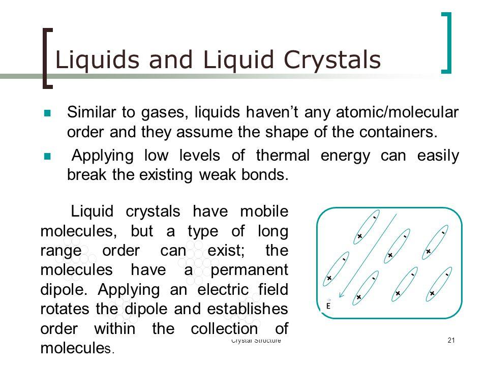 Liquids and Liquid Crystals