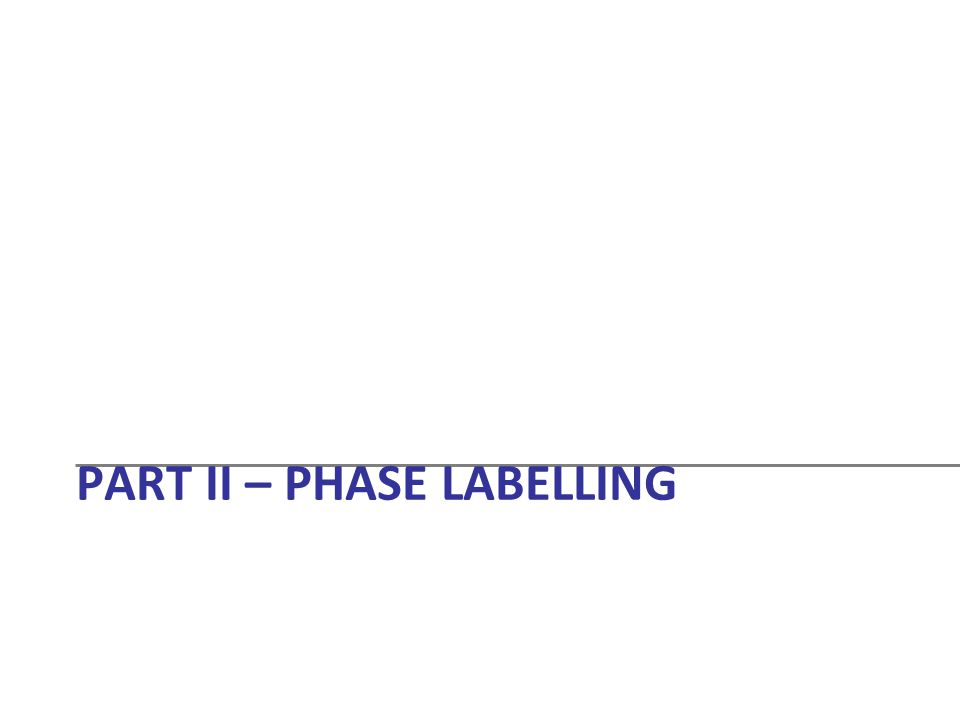 Part II – Phase Labelling