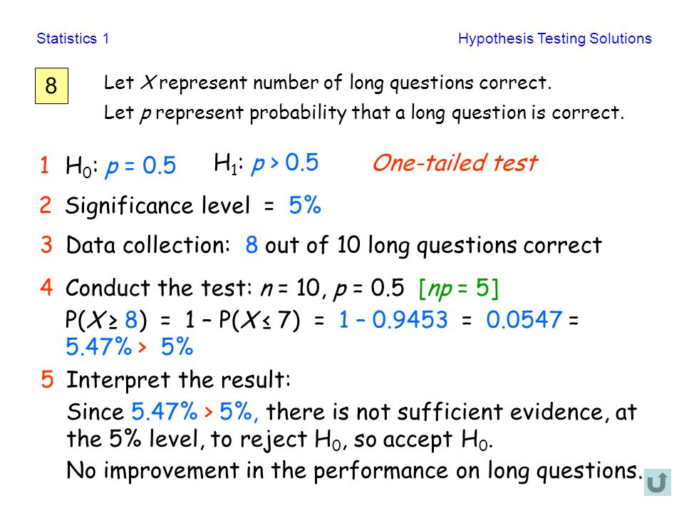 Data collection: 8 out of 10 long questions correct