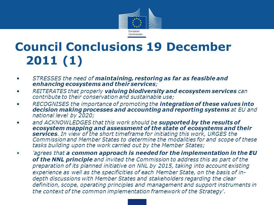 Eu biodiversity strategy 2020 council conclusions
