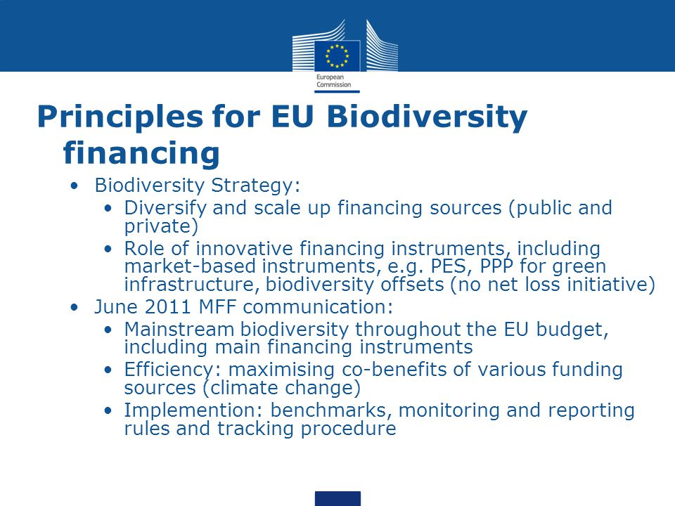 Principles for EU Biodiversity financing