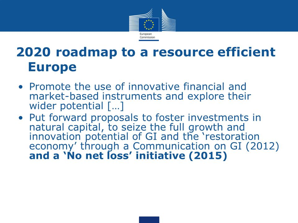 2020 roadmap to a resource efficient Europe