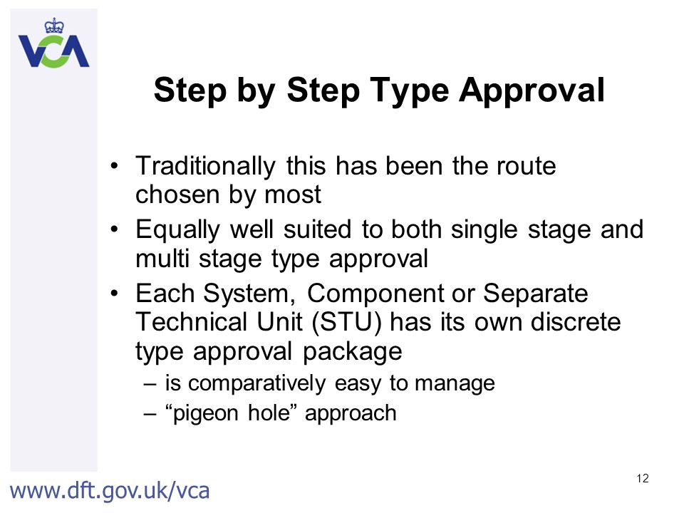 Step by Step Type Approval