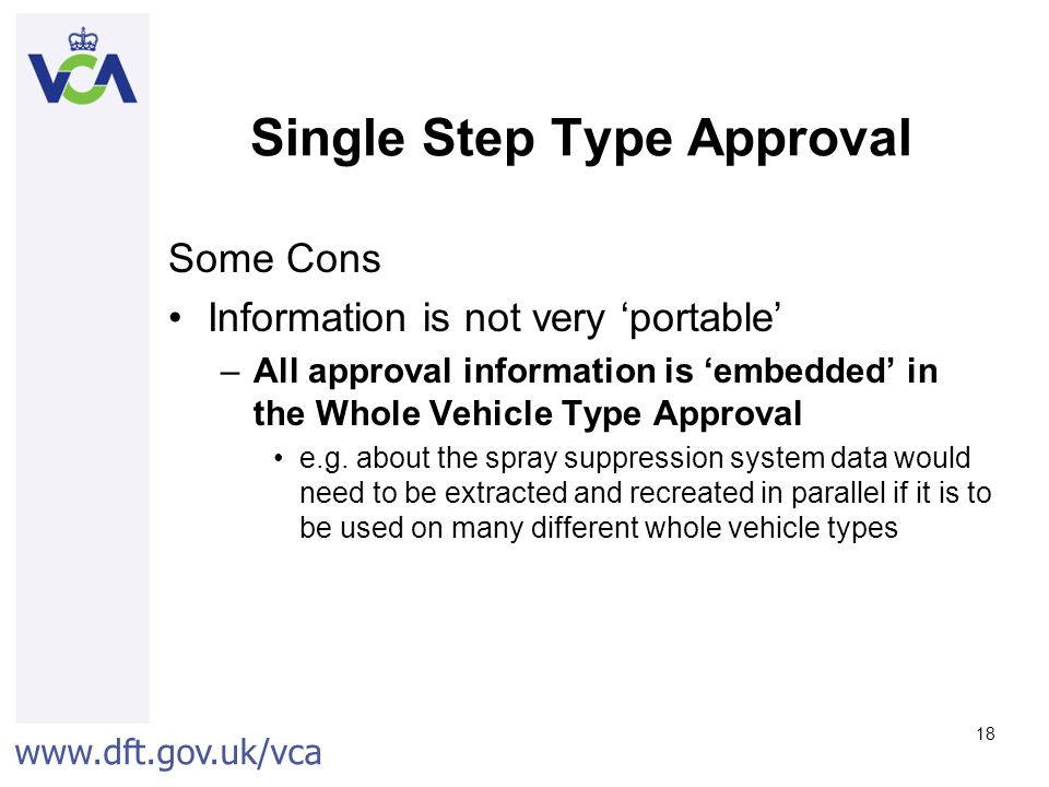 Single Step Type Approval