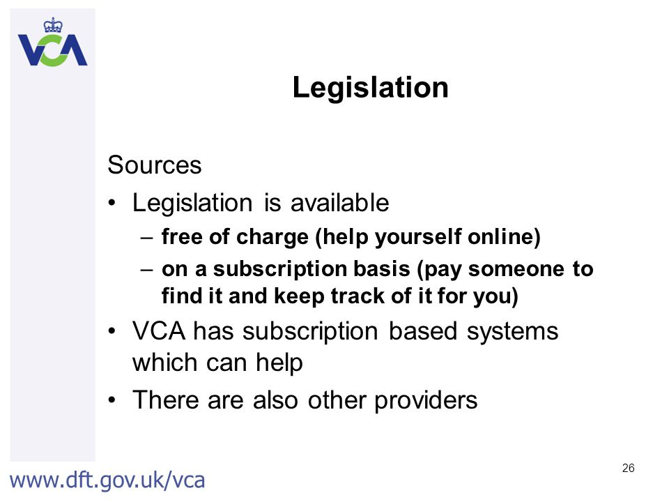 Legislation Sources Legislation is available