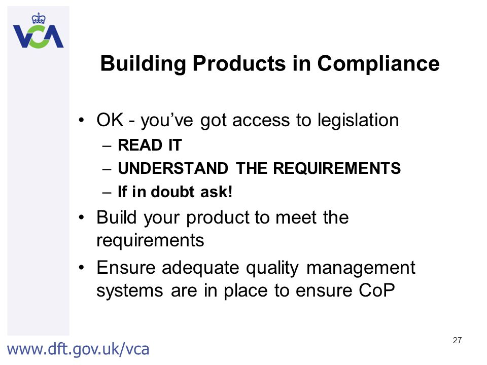 Building Products in Compliance