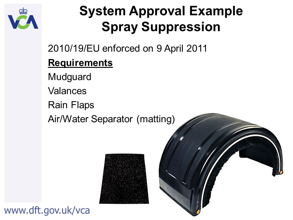 System Approval Example Spray Suppression