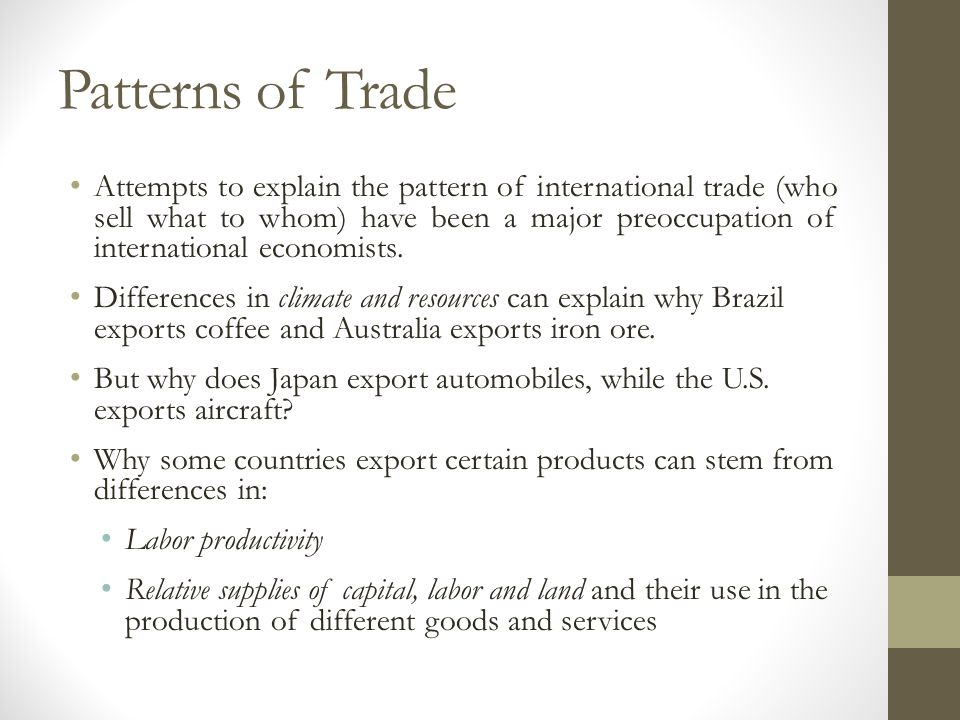 Patterns of Trade