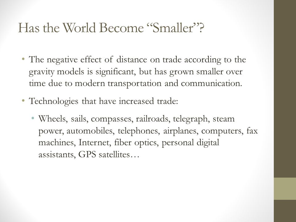 Has the World Become Smaller