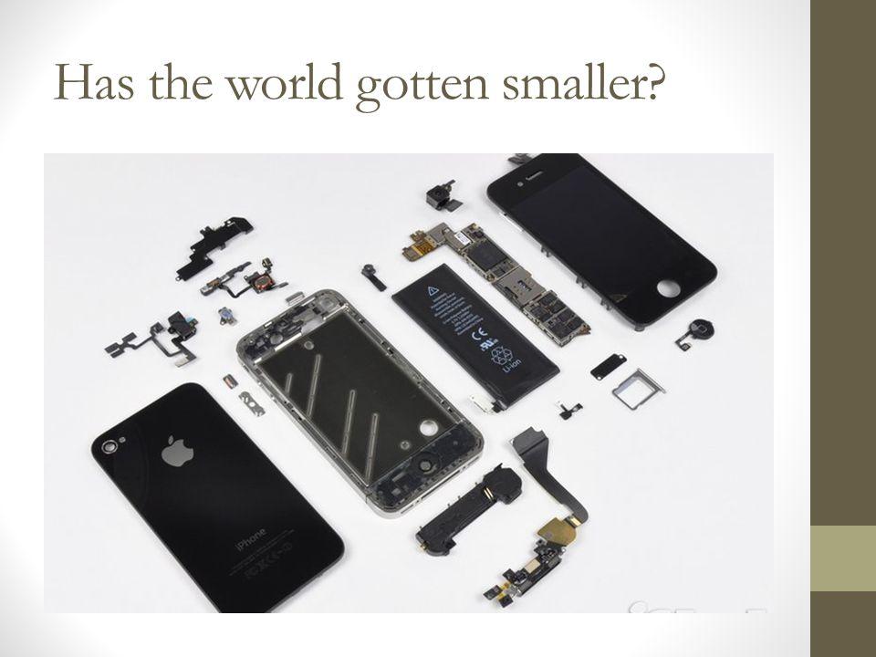 Has the world gotten smaller