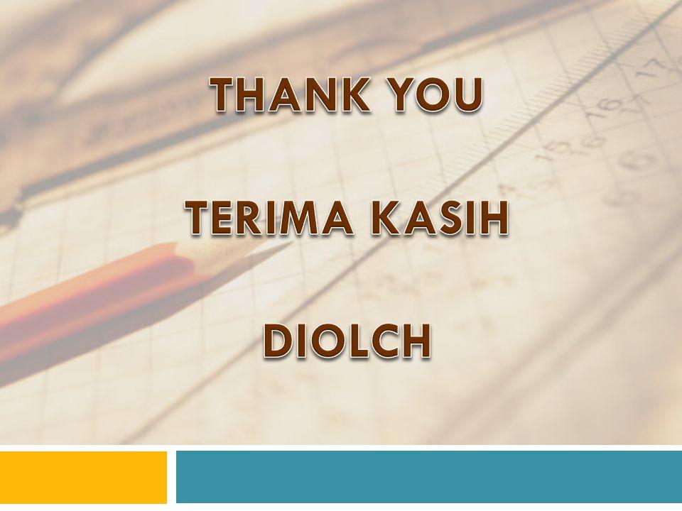 THANK YOU TERIMA KASIH DIOLCH