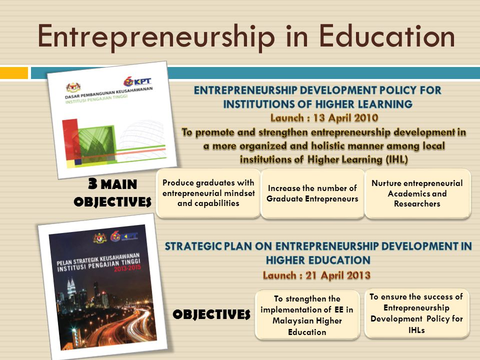 Entrepreneurship in Education