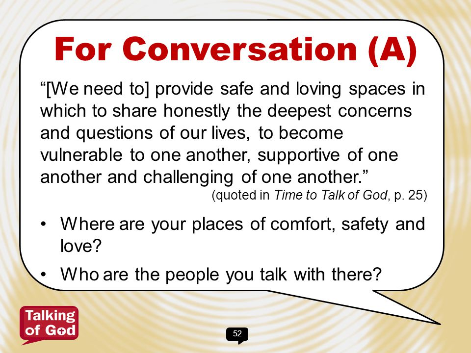For Conversation (A)