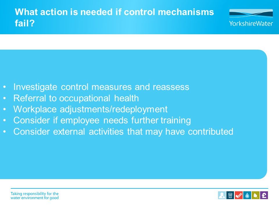 What action is needed if control mechanisms fail
