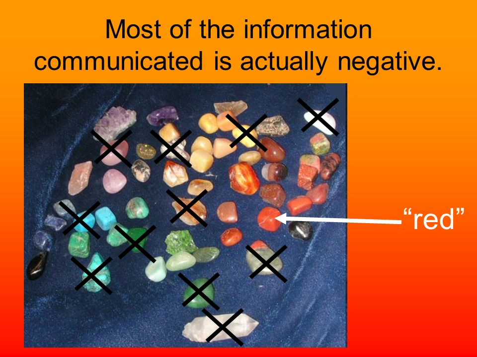 Most of the information communicated is actually negative.