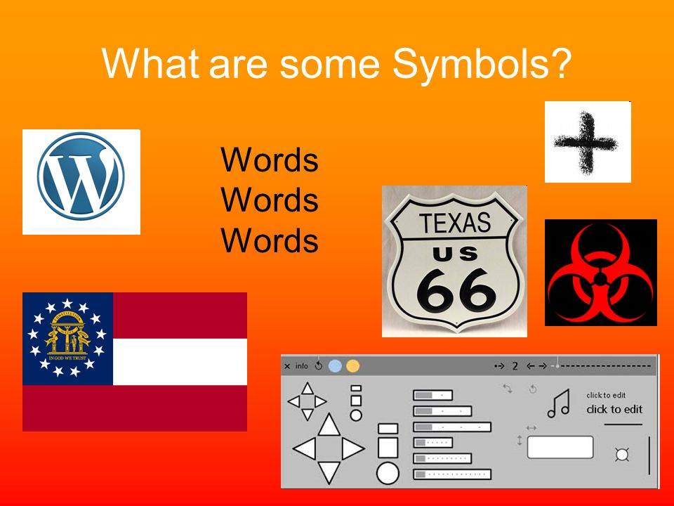 What are some Symbols Words