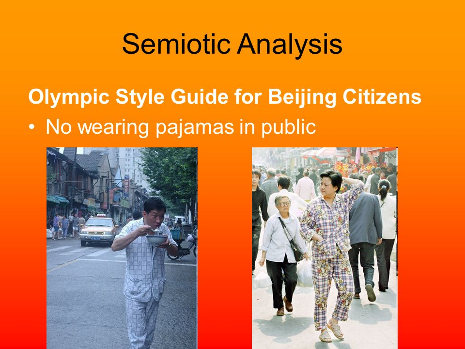 Semiotic Analysis Olympic Style Guide for Beijing Citizens