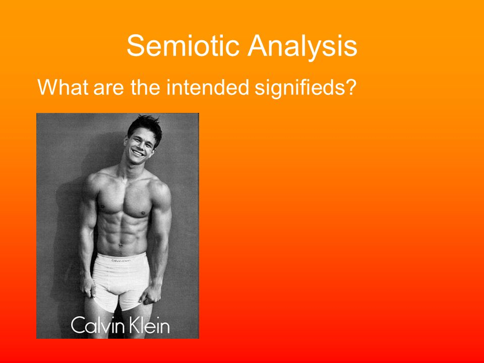 Semiotic Analysis What are the intended signifieds