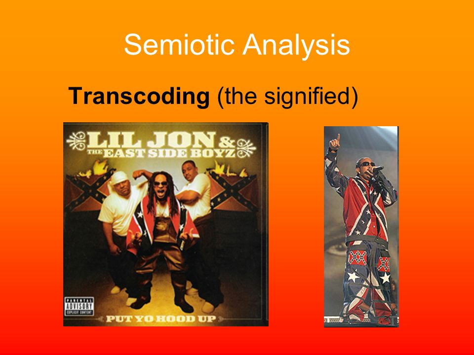 Semiotic Analysis Transcoding (the signified)