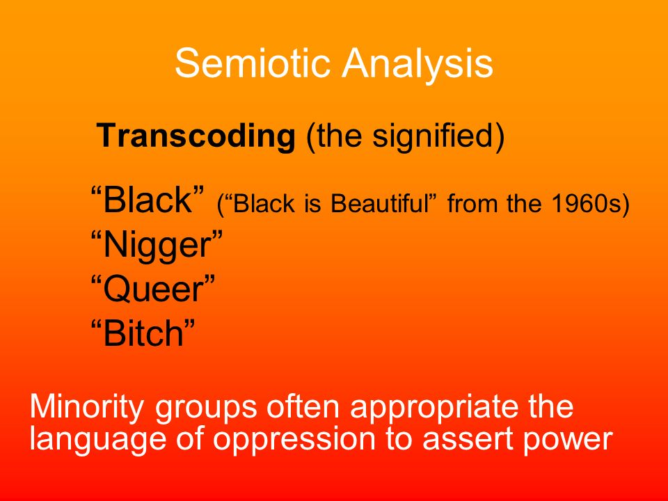 Semiotic Analysis Black ( Black is Beautiful from the 1960s)