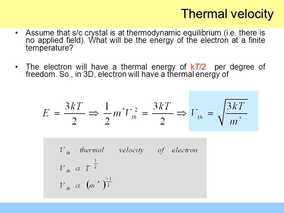 Thermal velocity