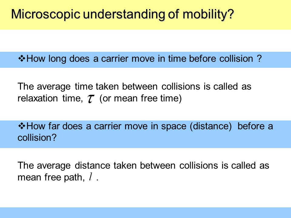 Microscopic understanding of mobility
