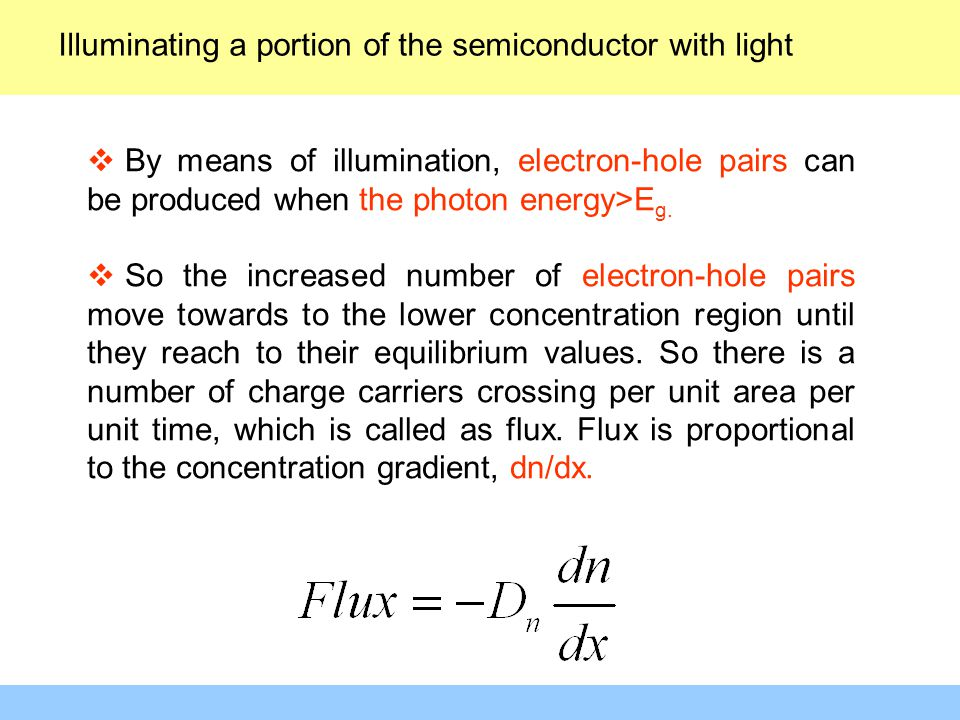 Illuminating a portion of the semiconductor with light