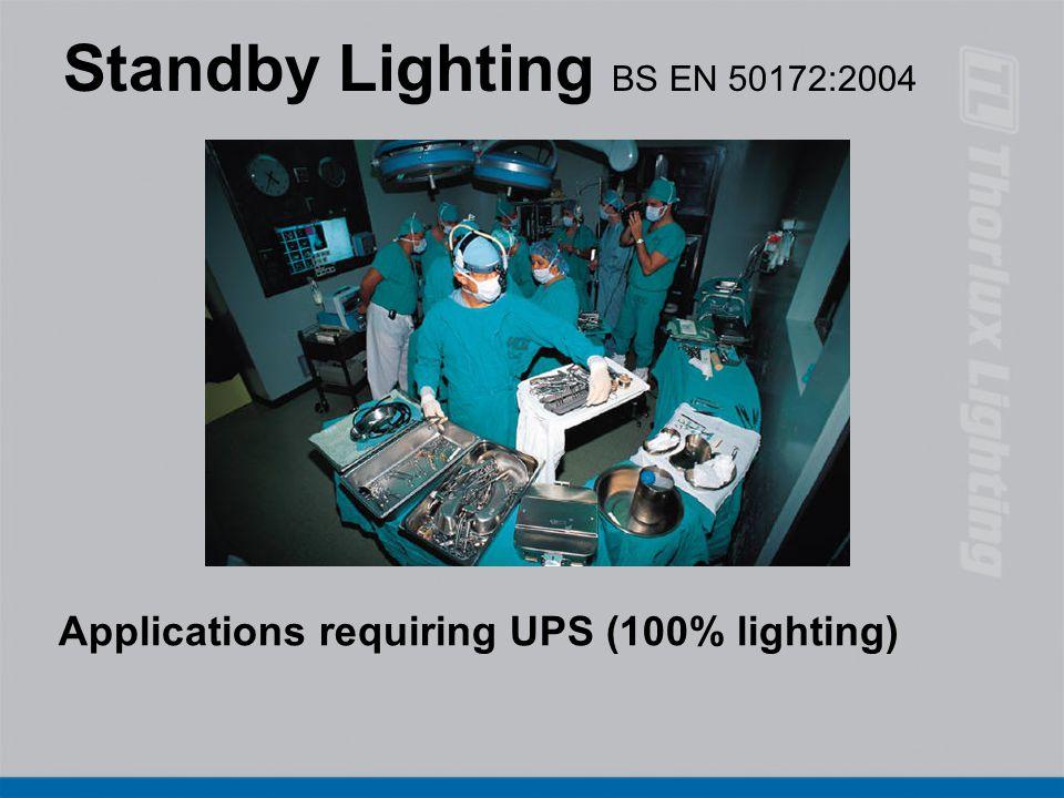 Standby Lighting BS EN 50172:2004