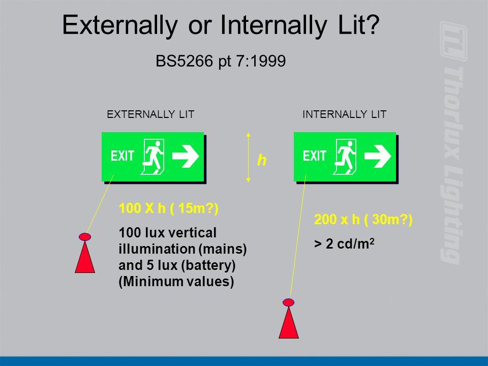 Externally or Internally Lit BS5266 pt 7:1999
