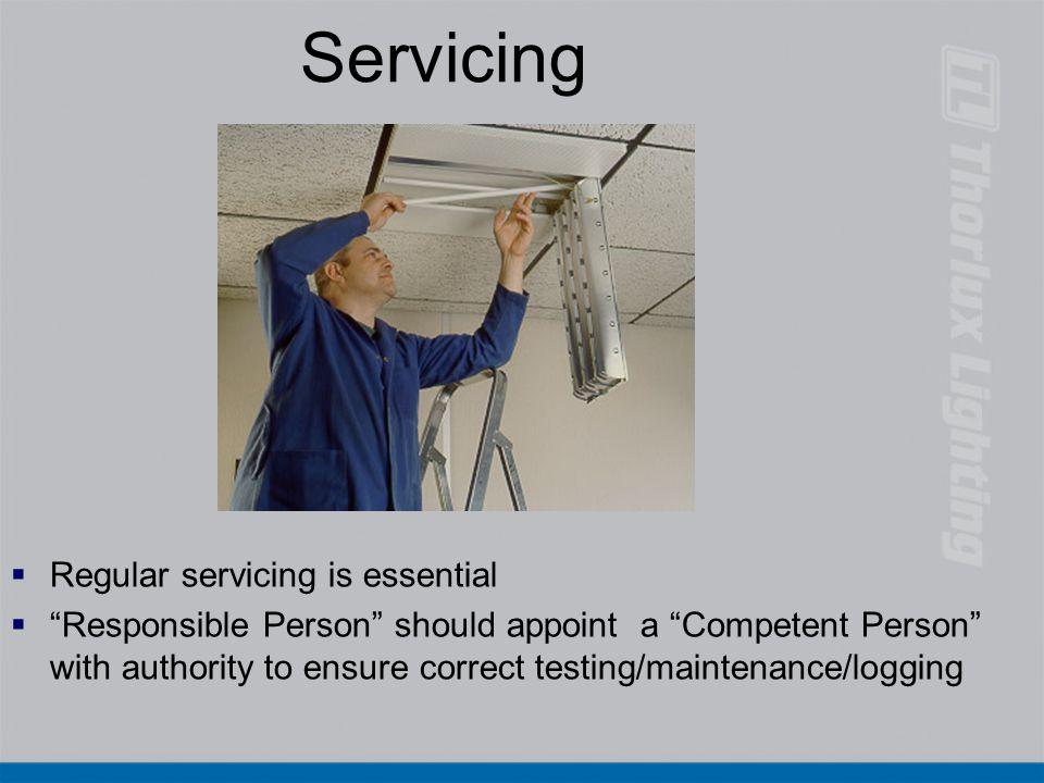 Servicing Regular servicing is essential