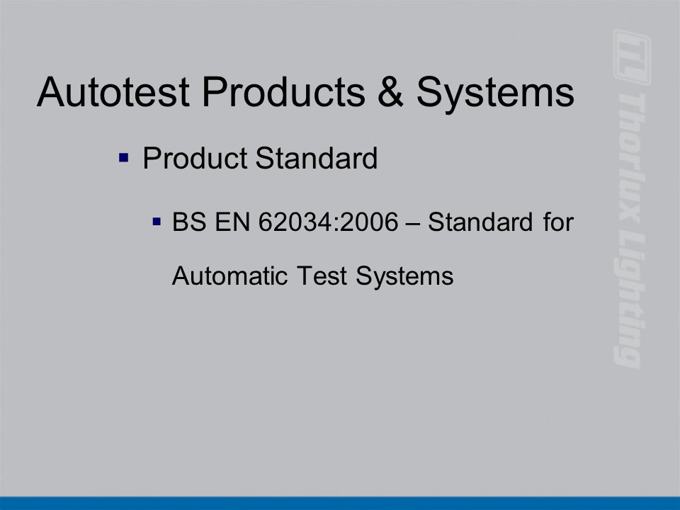 Autotest Products & Systems