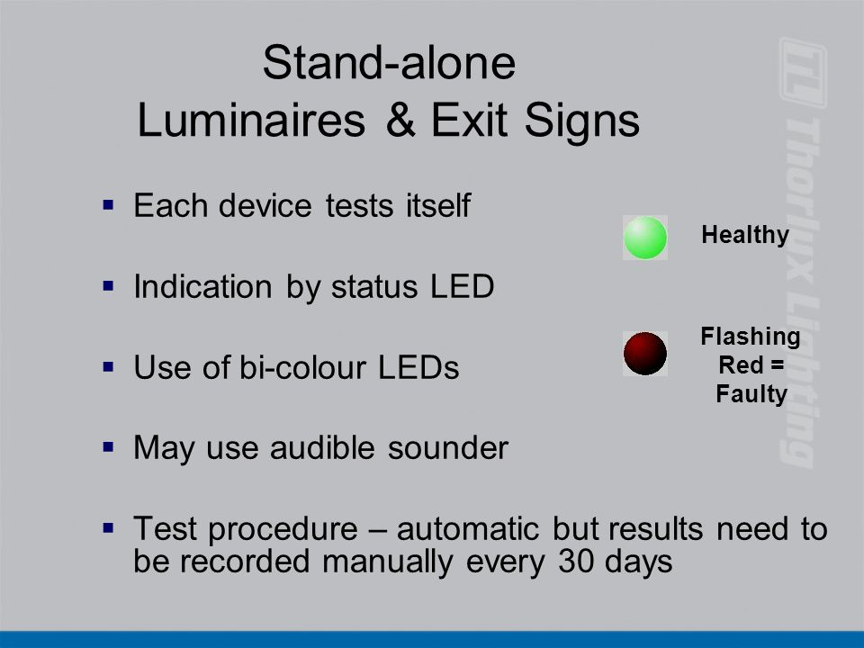 Stand-alone Luminaires & Exit Signs