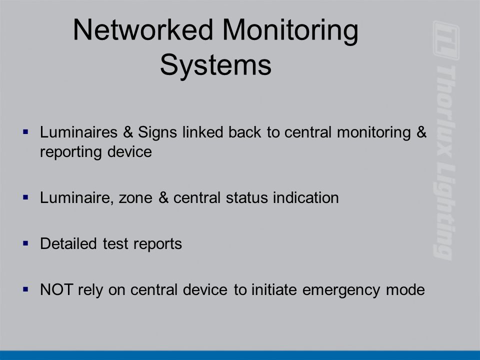 Networked Monitoring Systems